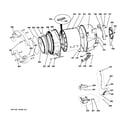 GE WPDH8850J3WW tub & motor diagram