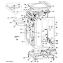 GE GFWN1100L1WW cabinet & top panel diagram
