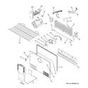 GE GTS21SCXASS freezer section diagram