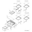 GE GTS21SCXASS fresh food shelves diagram