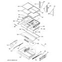 GE GYE22HSKFSS fresh food shelves diagram
