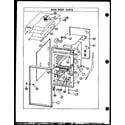 Caloric RXS216 cabinet parts diagram