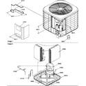 Amana RCC36A3B/P1172422C outer cabinet/compressor diagram