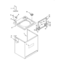 Kenmore 11027874600 top and cabinet parts diagram