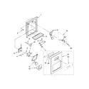 Kenmore 10657039602 dispenser front parts diagram