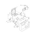Kenmore 10658143801 dispenser front parts diagram