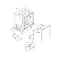 Kenmore 66513489K901 tub and frame parts diagram