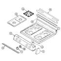 Maytag MGR5729ADL top assembly (ada, adh, adl, adq, adw) diagram