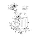 Maytag LDE7500ACM cabinet-rear (lde7500acm,adm) & (ldg) diagram