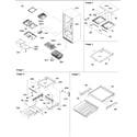 Amana ARB2109AWR-PARB2109AW0 shelving assy diagram