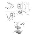 Amana AB1924PEKW interior cabinet & freezer shelving diagram