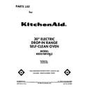 KitchenAid KEDS100VWH2 front cover diagram