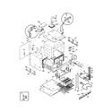 Frigidaire FEB556CESG cavity/elements diagram