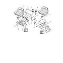 Snapper 331416KVE fuel tank & operators seat diagram