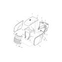Snapper 2690069 hood/grill/dash diagram