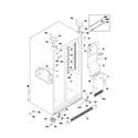 Frigidaire GLRS267ZCQ0 cabinet diagram