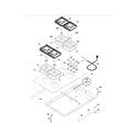 Kenmore 79032399400 maintop diagram