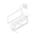 Frigidaire FFC0723DW5 door diagram