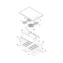 Frigidaire FEC30S6ASE maintop diagram