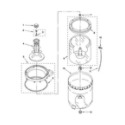 Estate ETW4400VQ3 agitator, basket and tub parts diagram
