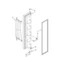 Whirlpool 5ED5FHKXVT00 freezer door parts diagram