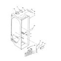 Whirlpool ED5GVEXVD02 refrigerator liner parts diagram