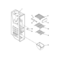 Amana ASD2522WRW03 freezer liner parts diagram