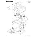 KitchenAid KECC664BBL00 cooktop parts diagram
