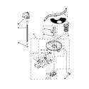 KitchenAid KUDE20FBSS0 pump, washarm and motor parts diagram