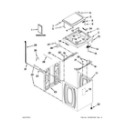 Whirlpool 7MWTW5622BW0 top and cabinet parts diagram