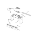 Whirlpool WMH31017AW2 cabinet and installation parts diagram