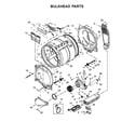 Whirlpool WED8000DW4 bulkhead parts diagram