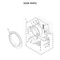 Whirlpool WED81HEDW1 door parts diagram
