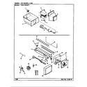 Maytag CDNT18V9/AC44A ice maker & bin diagram