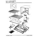 Admiral NT23L9A/AA99B freezer compartment diagram