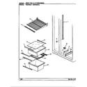 Maytag HRNS2015A/BP03C shelves & accessories (hrns2015/bp03b) (hrns2015/bp03c) (hrns2015a/bp04b) (hrns2015a/bp04c) diagram