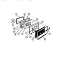 Frigidaire REM638BDW5 door diagram
