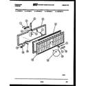 Frigidaire CFE16DL3 panel parts diagram